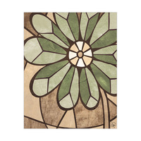 Neutral Stained Glass Flower Alpha