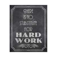 No Substitute For Hard Work - Chalkboard