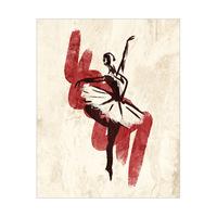 Gestural Ballerina Red