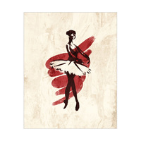 Gestural Ballerina En Pointe Red