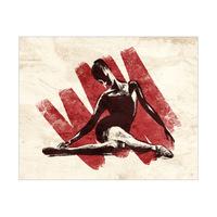 Stretching Ballerina Red