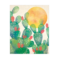 Watercolor Cactus Green