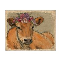 Floral Cow Purple