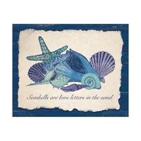 Seashell Love Letters Blue