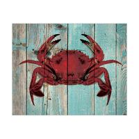 Crimson Crab on Sea Plank