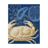 Damask Crab Dark Blue