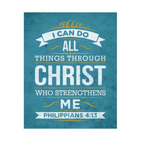 All Things Through Christ - Blue