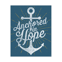 Anchored in Hope - Blue