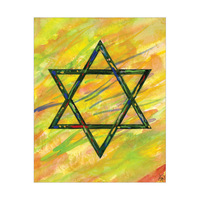 Watercolor Star Of David