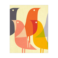Retro Bird Caravan Orange