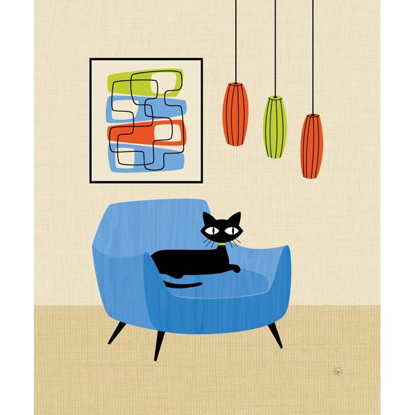 Retro Chair Cat Alpha