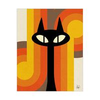 Hypnotic Cat Orange