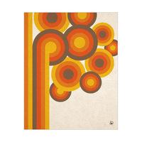 Retro Circle Tree Orange