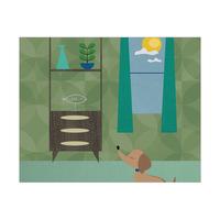 Retro Doggy Day Green