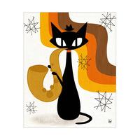 Saxophone Cat Orange
