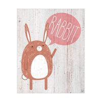 Rabbit on Wood