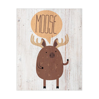 Moose on Wood