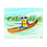 Racoon Likes Canoeing Alpha