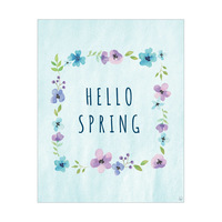 Hello Spring Blue Flower Frame