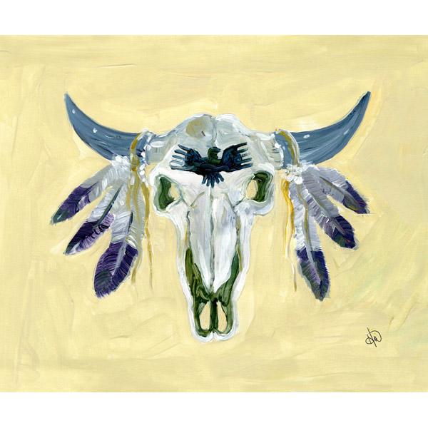 Decorated Bison Skull Alpha