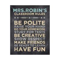Classroom Rules Yellow - Chalkboard