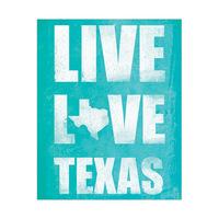 Live Love Texas - Cyan