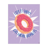 Eat More Donuts - Purple