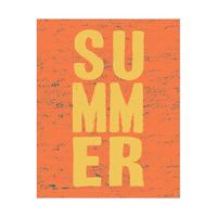 Yellow Summer on Orange