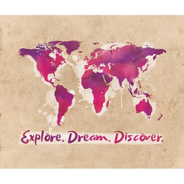 Explore Dream Discover The World Purple