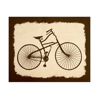 Bicycle on Parchment Umber