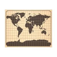 Gridded World Map