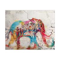Taj Mahal Elephant Red Head