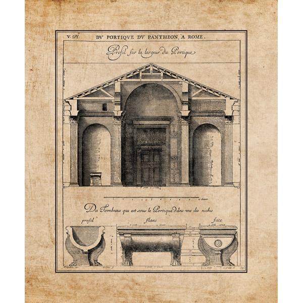 Pantheon Design on Parchment