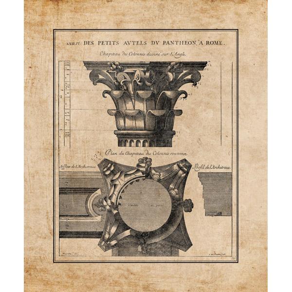 Pantheon Pillar on Parchment