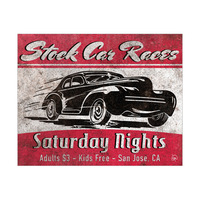 Stock Car Races Red