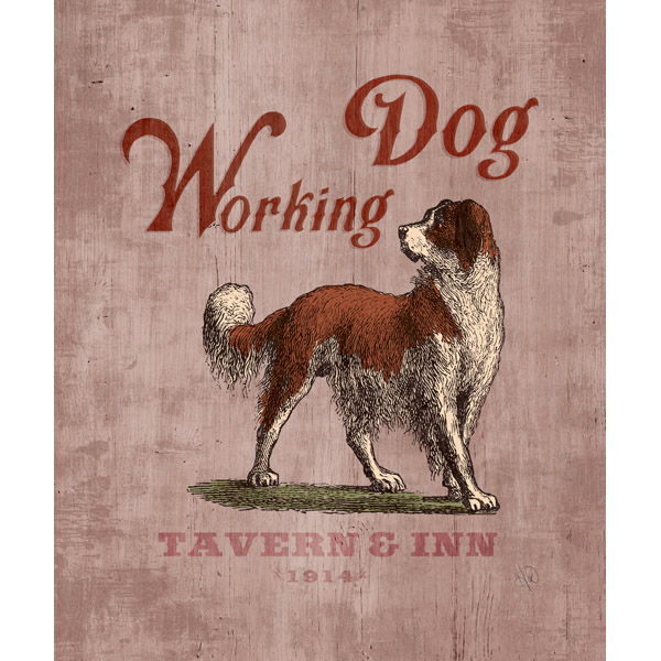 Working Dog Tavern & Inn Stained Wood