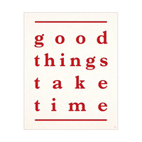 Good Things Letter Red