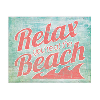 Relax At The Beach Red
