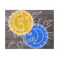 Live by the Sun Love by the Moon- Yellow Blue