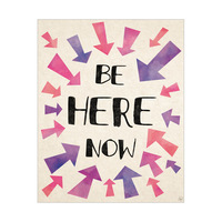 Be Here Now Arrows Purple