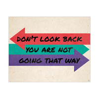 Don't Look Back Arrows Red Green And Purple