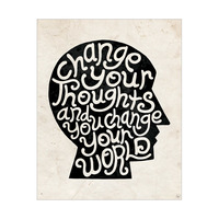 Change Your Thoughts Head Black