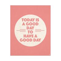 A Good Day Classy Circle Pink