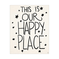 This is Our Happy Place- Black