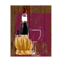 Mulberry Wine Set on Wood