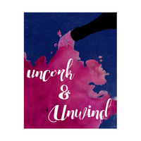 Uncork and Unwind - Pink on Lapis