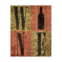 Gold and Red Wine Typography