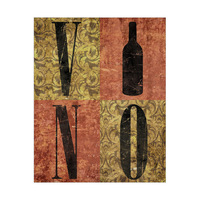 Gold and Red Vino Typography