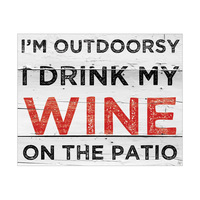 Wine on the Patio - White Slats