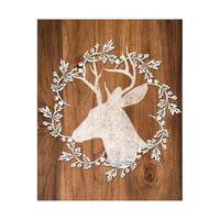 Reindeer Wreath Profile